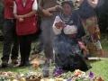 Ceremonia de celebracion de Nueva Era el 21 diciembre. Accion Ecologica